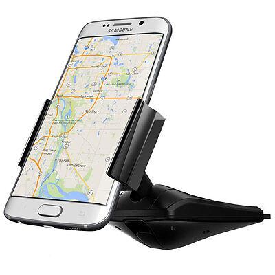 Vena DISC55 CD Disc Slot Car Mount 360 Rotating Cradle Holder for Cellphone GPS