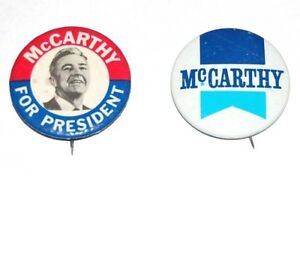 Eugene McCarthy Presidential Campaign Pin Back Button Independent For President