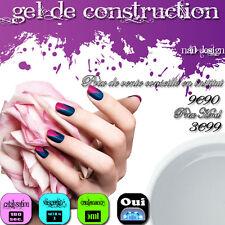 GEL UV DE CONSTRUCTION CLAIR 5ML NDED CLAIR EXTENSIONS DE PLAQUES FAUX-ONGLES