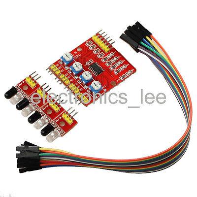 4 Channel IR Infrared Line Detector Tracking Sensor module for Arduino Smart Car