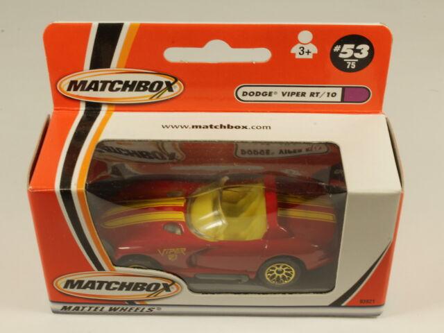 MATCHBOX #53 DODGE VIPER RT/10 93921 MATTEL WHEELS 2000 MIB[OF3-097]