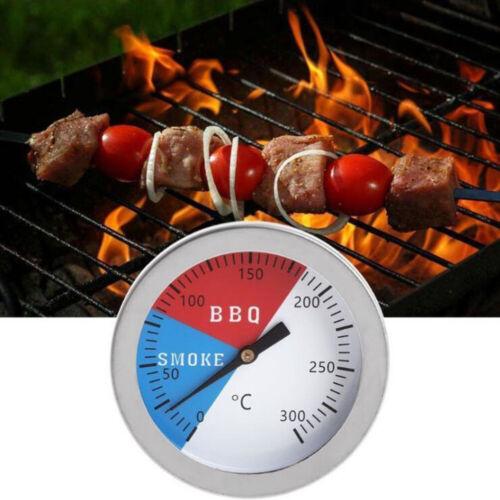 Barbecue Smoker Grill Thermomètre Température Gauge 300 ℃ Acier Inoxydable 304