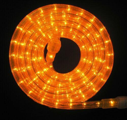 """Flexilight® Orange Rope Light 150Ft 110V 120V 2-Wire 3//8/"""" Incandescent Bulb"""