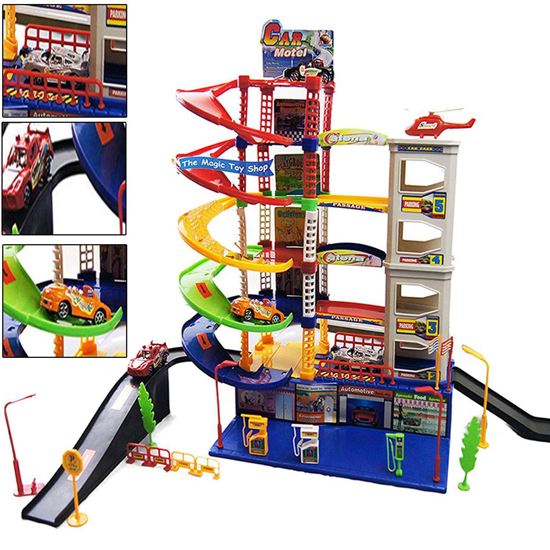 Toy Garages For Boys : Modern level kids garage auto car parking children xmas