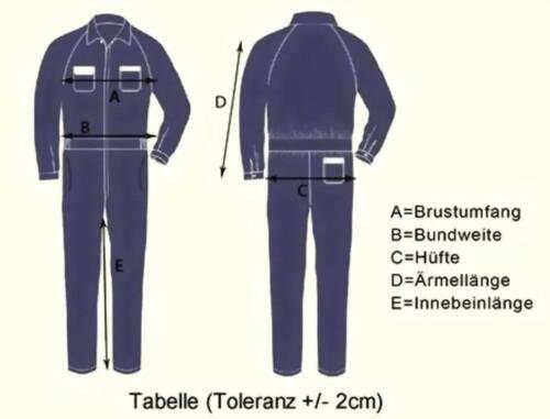 Arbeitsoverall Overall Arbeitsanzug Arbeitskleidung Gr 60 Blau oder Navy
