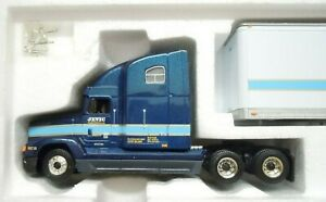 First-Gear-Freightliner-FLD-120-Tractor-amp-48-039-Trailer-Jevic-1-54-Die-cast-MIB