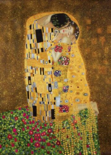 #73222 Gustav Klimt-La kuß Art Nouveau Poster Photo-Papier Peint 250x180cm