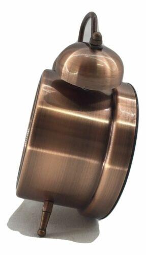 Alarm Quartz Copper or Polished Brass Desk Clock Furniture Decor
