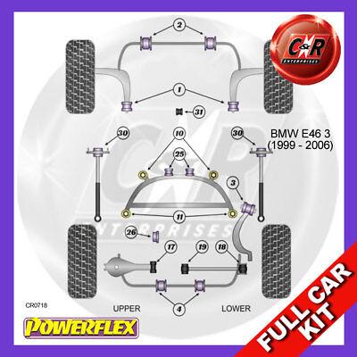Powerflex Poly Pour BMW E46 Série 3 99-06 Arrière Diff Avant Bush PFR5-4625