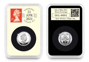 The WORLD'S FIRST Silver Sovereign Queens 95th Birthday DateStamp™ Issue
