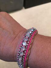 Juicy Couture Rhinestone & Hot Pink Bracelet