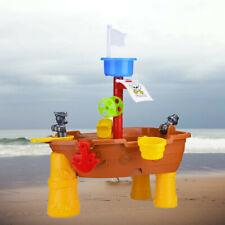 Pirate Ship Water Sand Play Table Outdoor Garden Summer Beach Digging Sandglass