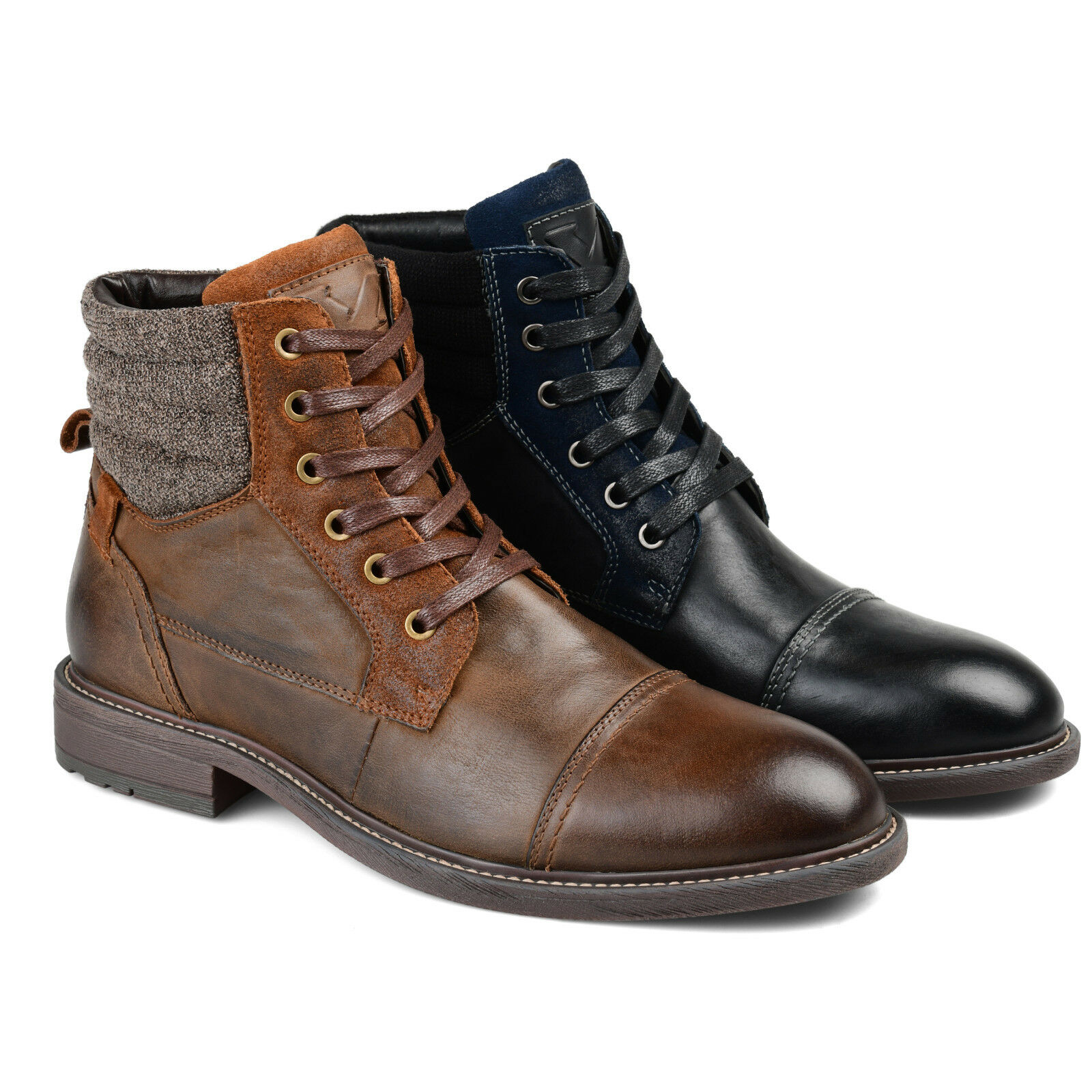 Daxx Mens Cap Toe Lace-up Ankle Boot