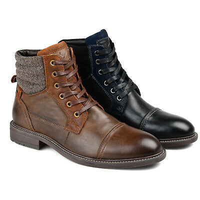 Daxx Mens Genuine Leather Lace-up Cap-toe Brogue Dress Shoes