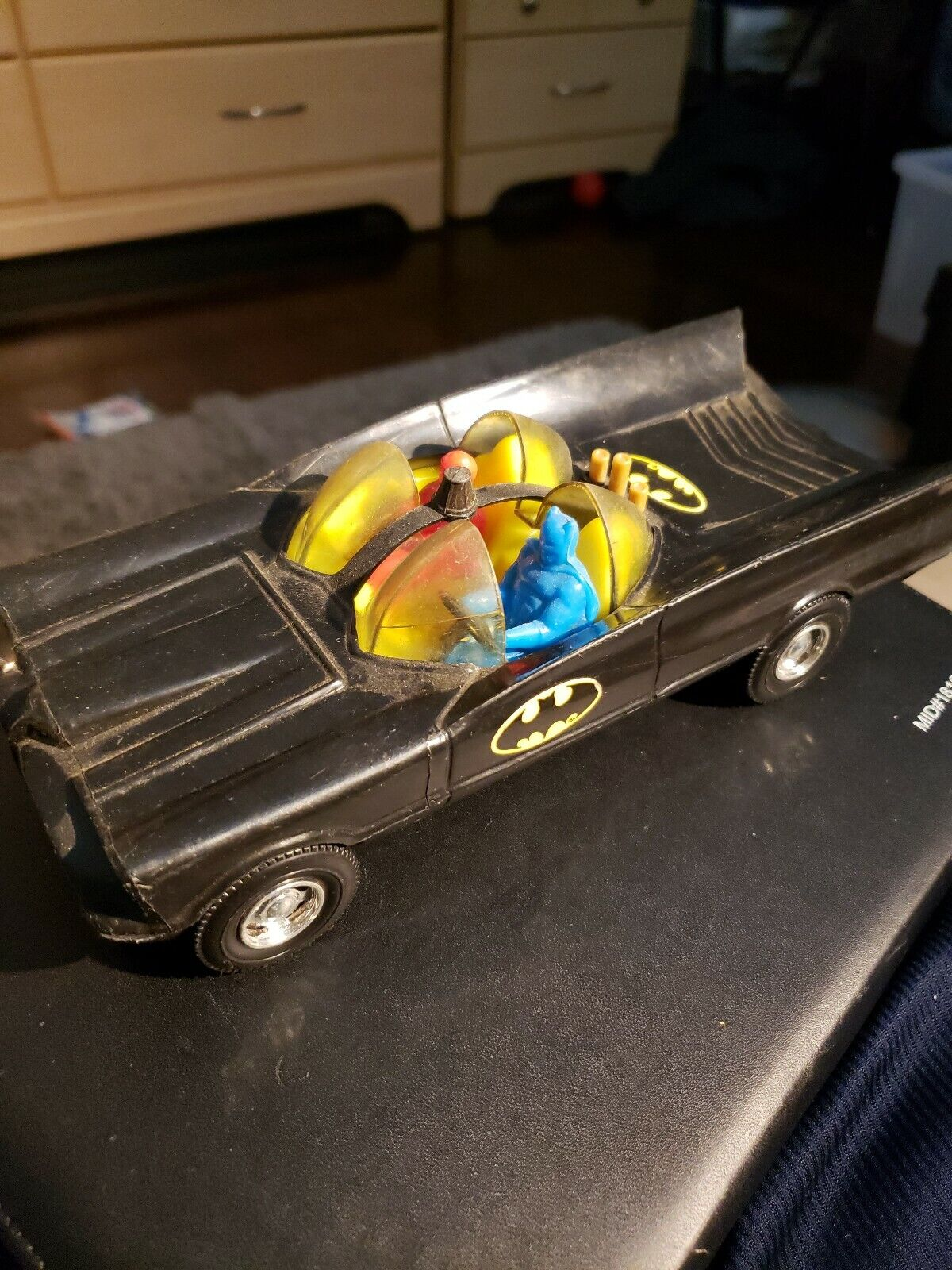 Vintage 1970s Simms Plastic Batman Batmobile No. 529 Aurora, IL