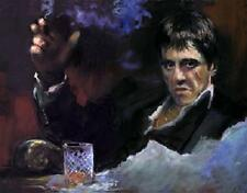 Hand-painted Portrait Oil Painting,Scarface, Al Pacino, snow, gangster