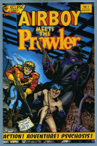 AIRBOY-MEETS-THE-PROWLER-1-VF-NM-Tim-Truman-Eclipse-1987-more-in-store