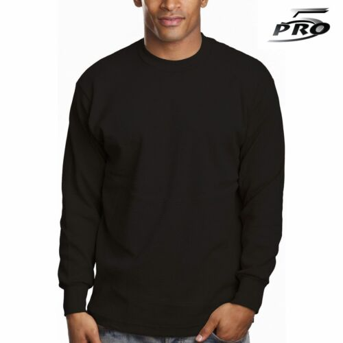 Pro 5 Apparel 100/% Cotton Thermal Knit Tops Black 3 Pack