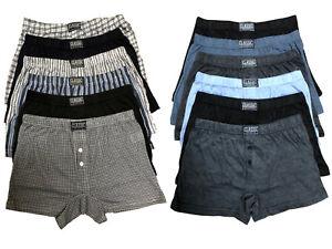 6-x-Men-039-s-Cotton-Rich-Button-Fly-Boxer-Shorts-Assorted-Underwear-Big-King-Sizes