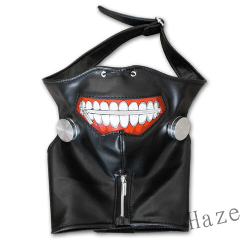 Cosplay Tokyo Ghoul Mask Kaneki Ken Adjustable Zipper Masks PU Leather Mask 1pc