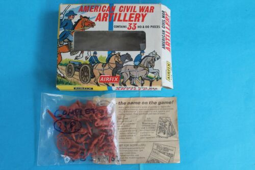 BLUE /& STRIP BOX VINTAGE LOT BOX AND TOY SOLDIERS AIRFIX Miniatures SERIE