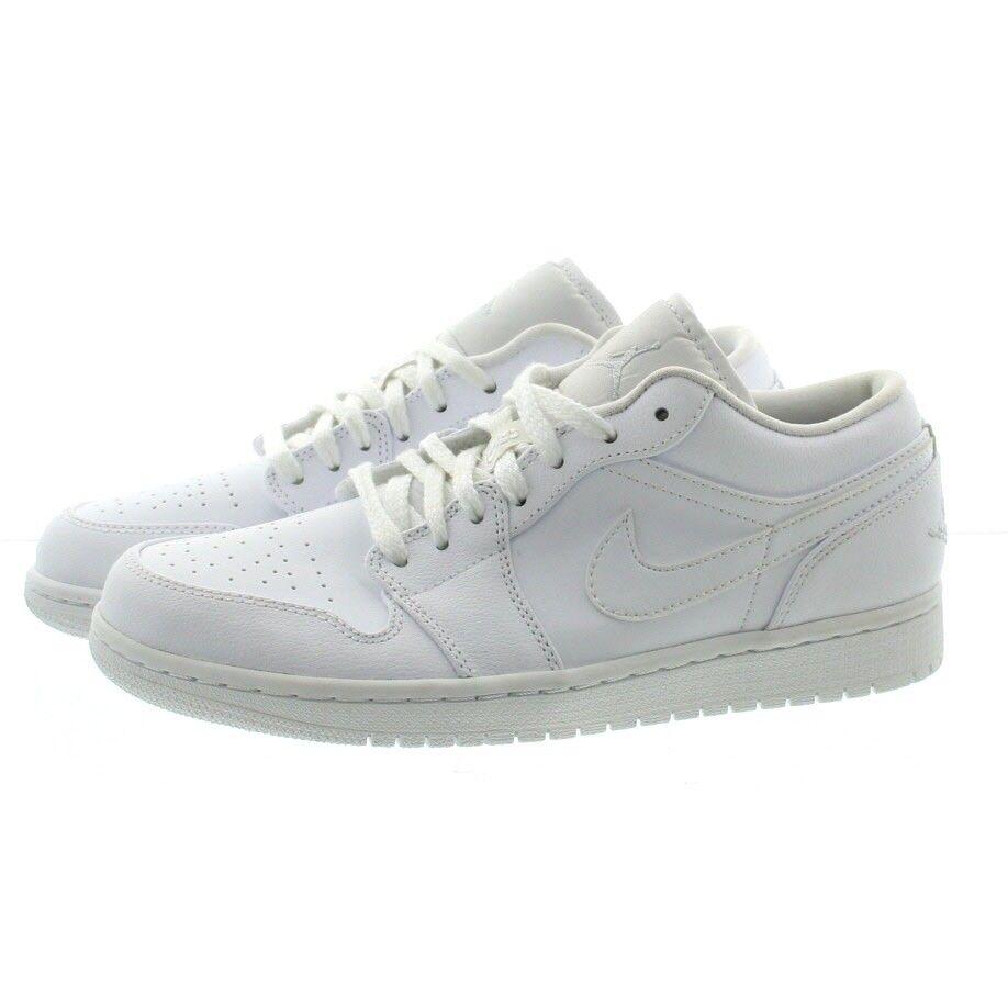 Nike 553558 Mens Air Jordan Retro Low Top Basketball Tennis Shoe Sneakers White