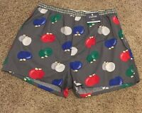 Mens Size Xl Stafford Cotton Reg Fit Boxers Underwear Gray Ornaments