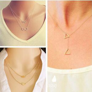 Women-Pendant-Chain-Infinity-Choker-Chunky-Statement-Bib-Charm-Necklace-Jewelry