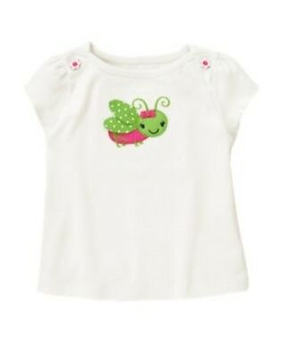GYMBOREE SHOWERS OF FLOWERS IVORY CRICKET S/S TEE 18 24 2T 3T 4T NWT