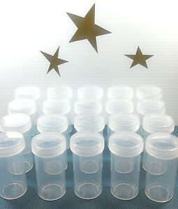 20-Tube-CLEAR-JARS-Caps-Party-Pill-Bottles-1-5-oz-Container-Vial-3814-DecoJars