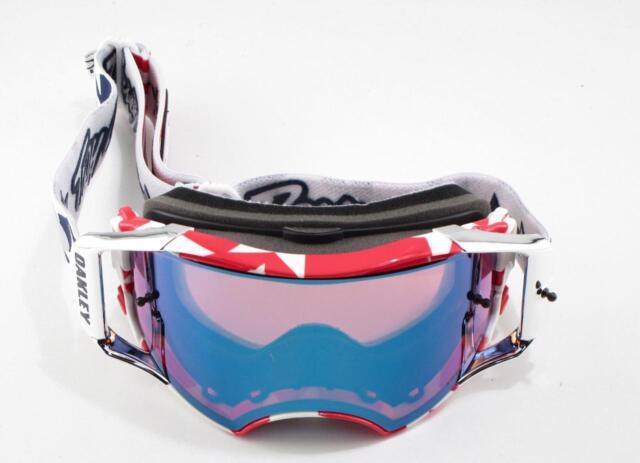 New Oakley Snow Goggles Airbrake MX Troy Lee w/Prizm Sapphire MX In Box #7046-55