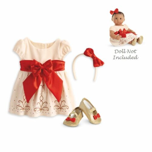 American Girl Bitty Baby Cream /& Crimson Outfit Beautiful !!!!