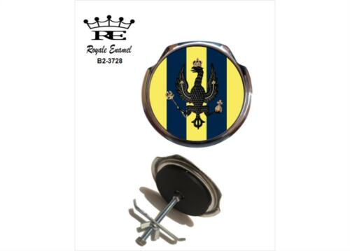 ROYALE CAR GRILL BADGE 14TH//20TH KING/'S HUSSARS  B2.3728