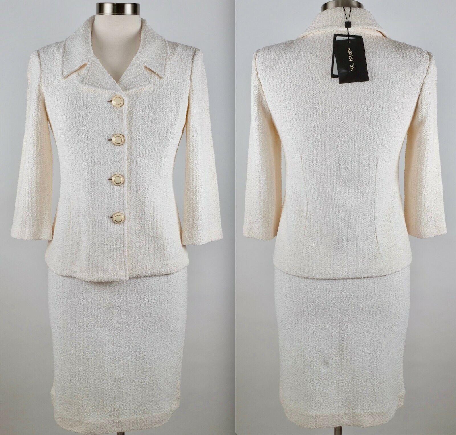 Nuevas Talla 2 St John Couture  Apagado blancoo Falda Traje Chaqueta  1540  mejor calidad mejor precio