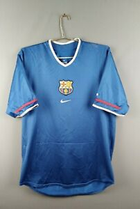 5-5-Barcelona-jersey-Large-2001-2002-thirt-shirt-soccer-football-Nike-ig93