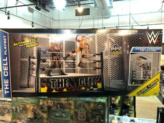 WWE WWF la célula Jugarset Mattel 2014