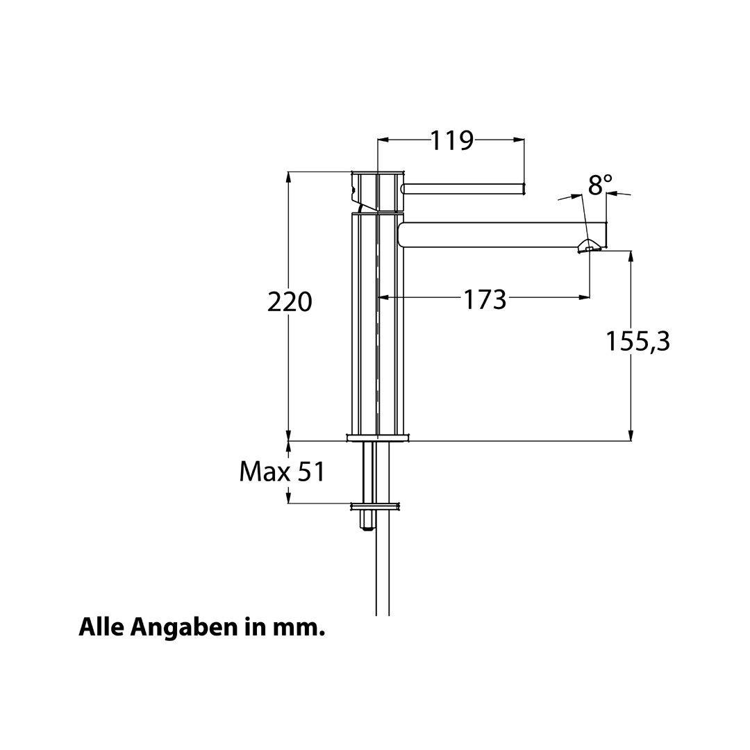 CHRIS CHRIS CHRIS BERGEN Design Waschtischarmatur Armatur Mischbatterie Bad Wasserhahn faebd6