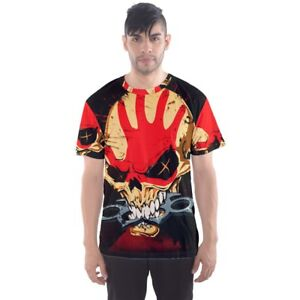 FIVE-FINGER-DEATH-PUNCH-5FDP-Sublimation-Mens-Sport-Mesh-Tee-T-Shirt-Size-XS-3XL