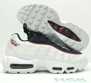 Details about Nike Air Max 95 LX Womens Sneaker NSW White Blue Red Running AA1103 100 NIB