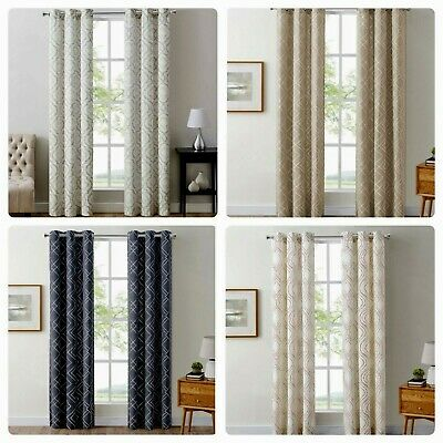 the big one 2 pack drew geo grommet top window curtains 80 x 84 select styles ebay