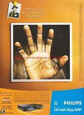 Philips CD Recorder Hand 1999 Magazine Advert #7811