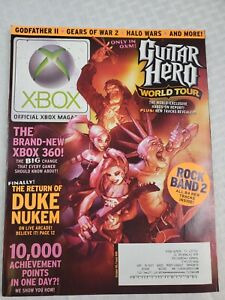Official XBOX Magazine -Oct 08-GUITAR HERO WORLD TOUR- XBOX 360-  Issue #88