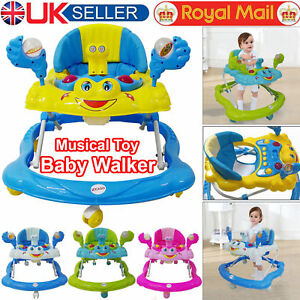 Baby-First-Steps-Walker-Activity-Bouncer-Musical-Toy-Push-Along-Ride-On-Bright
