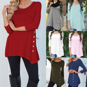 Women-Long-Sleeve-Loose-Plus-Size-Blouse-Tops-Lady-Casual-T-Shirt-Pullover-S-6XL