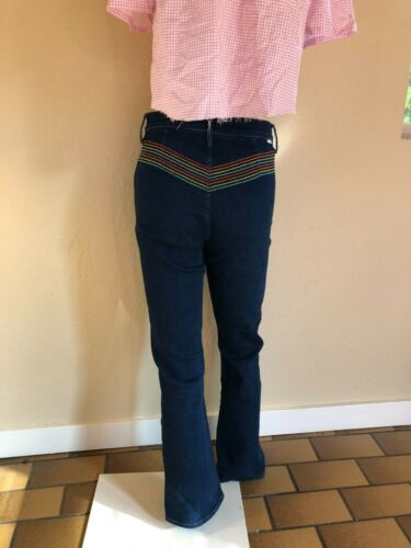 Mother high waisted jeans 70s style rainbow bell b