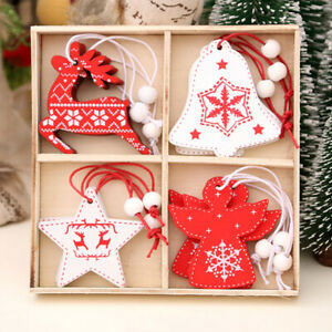 12Pcs NEW Christmas Stockings Hanging Ornament XMAS Tree Decoration Gift