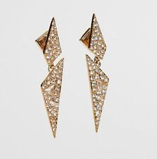 Alexis Bittar Gold Triangle Dangle Drop Earrings New