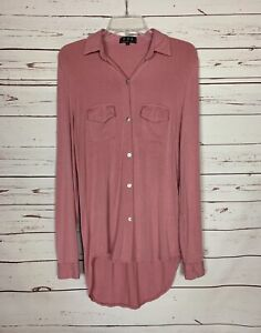 POL-Anthropologie-Women-039-s-S-Small-Pink-Long-Sleeve-Knit-Cute-Tunic-Top-Shirt