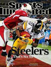 SANTONIO HOLMES PITTSBURGH STEELERS SPORTS ILLUSTRATED NO LABEL FEBRUARY 9 2009