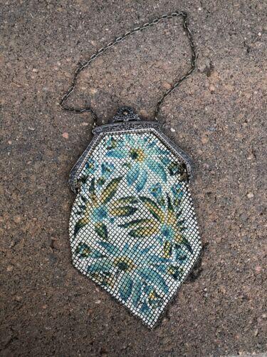 Antique 1920's mesh purse Mandalian MFG Co Flapper